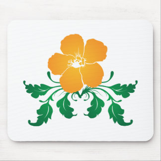 Orange Flower: Vector Drawing: Mouse Mat