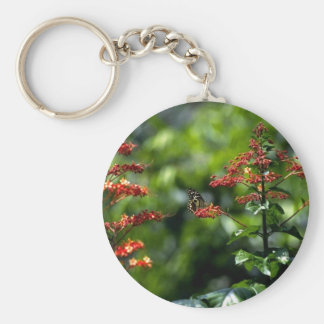 Orange flowers and a tiny butterfly key chains