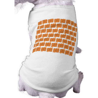 Orange flowers and squares pattern dog clothing