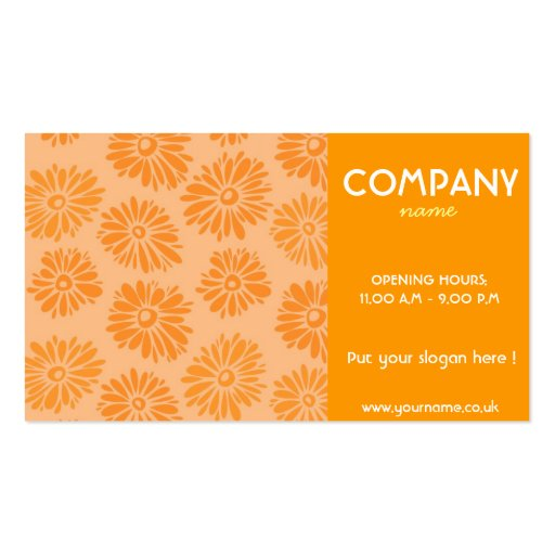 Orange Flowers Business Card