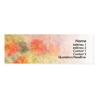 Orange Flowers Impressionist Blend Business Card Template