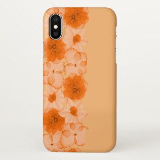 Orange Flowers iPhone X Case