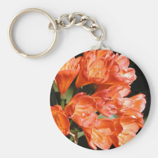 orange flowers keychain