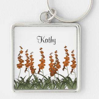 Orange Flowers Key Chains