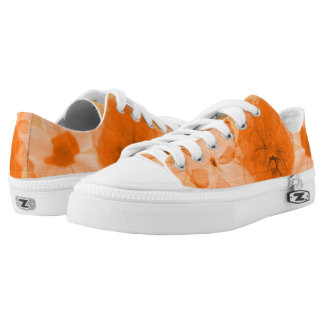 Orange Flowers Low Tops