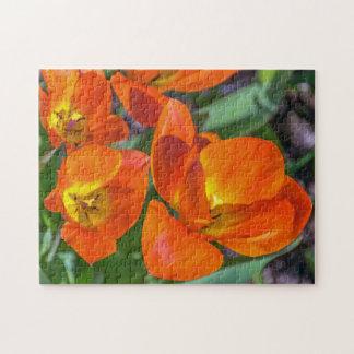 Orange flowers photo puzzle