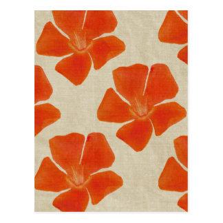 Orange Flowers Postcard