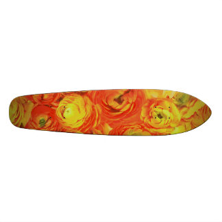 Orange Flowers Skate Board Deck