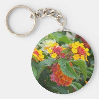 Orange flowers to make you happy keychain