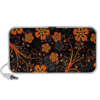 orange flowers vector art notebook speakers