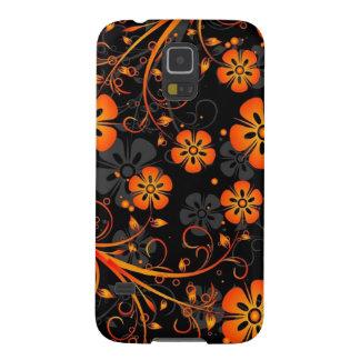 orange flowers vector swirl art galaxy s5 covers