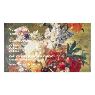 Orange Flowers with Butterfly, Flemish flowers Business Card Template
