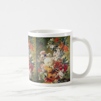 Orange Flowers with Butterfly, Flemish flowers Coffee Mugs