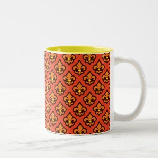 Orange Fluer de Lis Cup