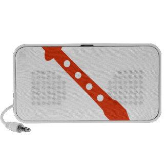 Orange Flute Musical Instrument Icon Portable Speakers