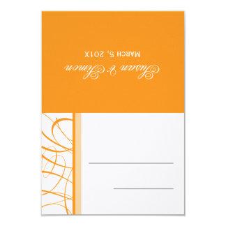 Orange  |   Folded Table Place Card 9 Cm X 13 Cm Invitation Card