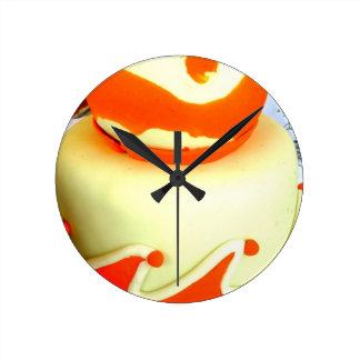 Orange fondant cake clock