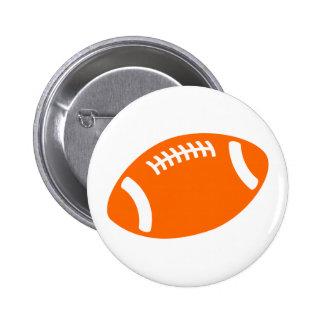 Orange Football Pinback Button