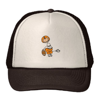 Orange Football Player Hat