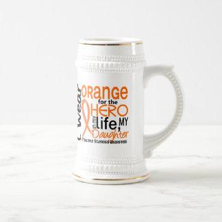 Orange For Hero 2 Daughter MS Multiple Sclerosis Beer Steins