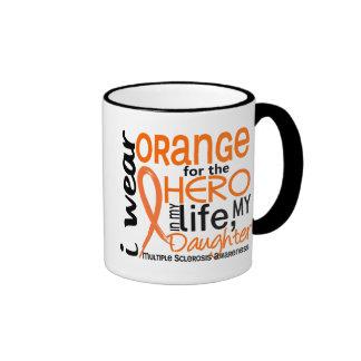 Orange For Hero 2 Daughter MS Multiple Sclerosis Ringer Mug