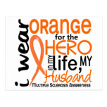 Orange For Hero 2 Husband MS Multiple Sclerosis Postcard