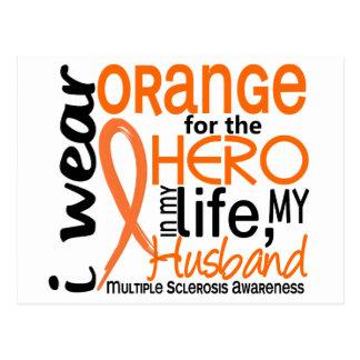 Orange For Hero 2 Husband MS Multiple Sclerosis Postcard