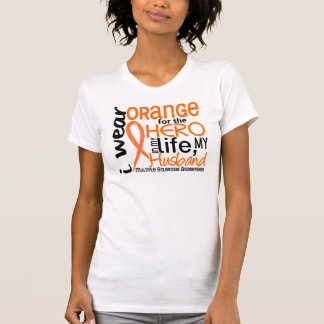 Orange For Hero 2 Husband MS Multiple Sclerosis T-Shirt