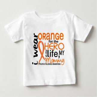 Orange For Hero 2 Mommy MS Multiple Sclerosis Baby T-Shirt