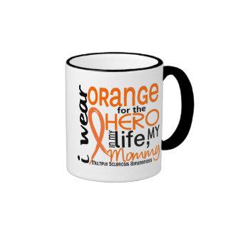 Orange For Hero 2 Mommy MS Multiple Sclerosis Ringer Mug