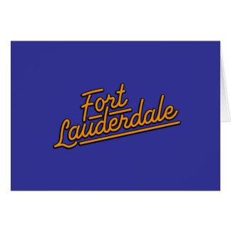 orange Fort Lauderdale Greeting Card