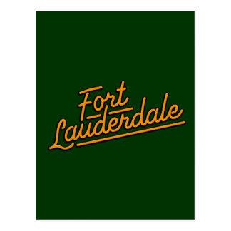 orange Fort Lauderdale Postcard