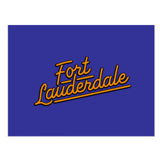 orange Fort Lauderdale Postcards