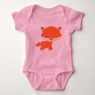 Orange fox baby bodysuit