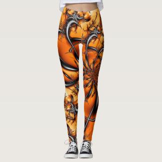 Orange Fractal #6 Leggings