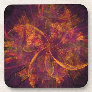 Orange Fractal Coaster