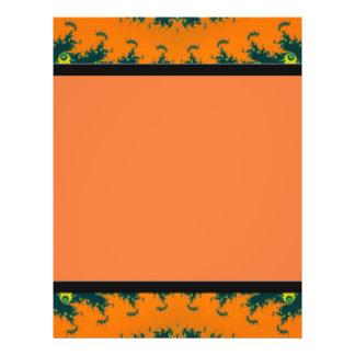 orange fractal personalized flyer