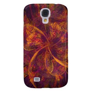Orange Fractal Galaxy S4 Case