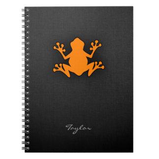 Orange Frog Spiral Notebook