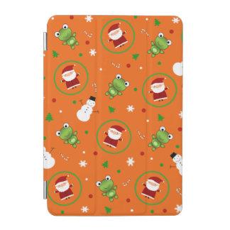 Orange frogs santa claus snowmen iPad mini cover