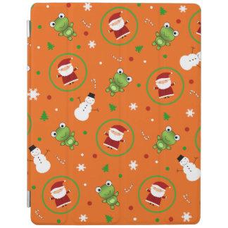 Orange frogs santa claus snowmen iPad cover