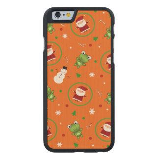 Orange frogs santa claus snowmen carved® maple iPhone 6 case