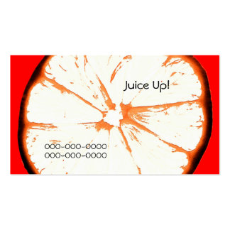 orange fruit and juice business card