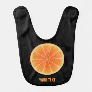 Orange Fruit Baby Bib