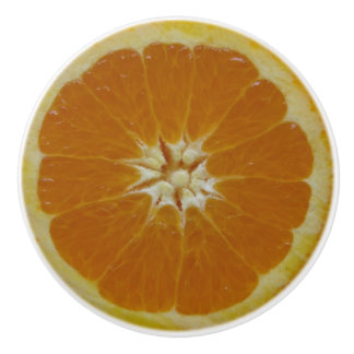Orange Fruit Ceramic Knob