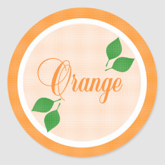 Orange Fruit Label Sticker