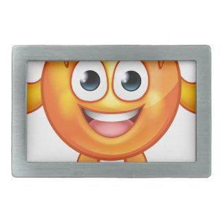 Orange Fruit Mascot Cartoon Character Rectangular Belt Buckles