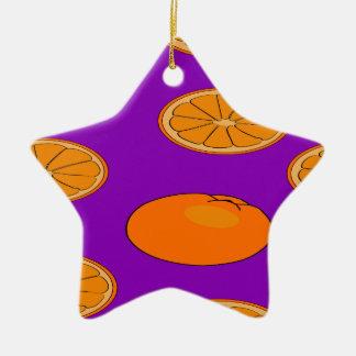 Orange fruit pattern christmas ornament