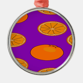 Orange fruit pattern christmas ornament
