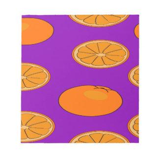 Orange fruit pattern notepad